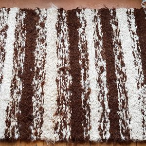 Cookies and Cream Alpaca Rug